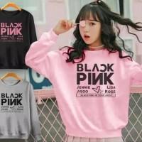 blackpink korea jaket sweater baju wanita anak remaja black pink