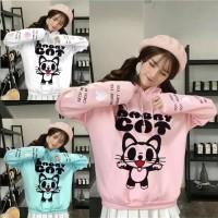 sweater kucing cat korea jepang baju jaket anak anak remaja sekolah