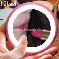 Cermin makeup mirror LED mini - lampu cermin rias mini