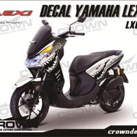 Sticker Decal YAMAHA LEXI - WHITE Shark