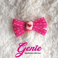 pink ice cream ribbon - aksesoris rambut