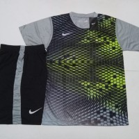 Jersey Kaos Baju Setelan Futsal Bola Nike Printing NK137 Grey