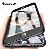 Casing Essager Ultra Magnetic Adsorption Case For iPhone X 8 7 6 6S S