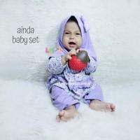 Ainda Baby Set - Baju Muslim Balita - Baju New Born Lucu Size S 0-4bln