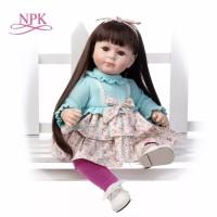 Boneka Reborn Long Hair Ariana / Boneka Mirip Bayi NPK