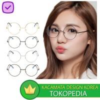 Kacamata (Design Korea) Pria Wanita Bulat Vintage Group