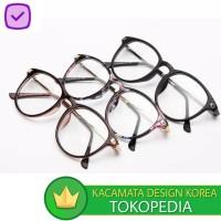 Kacamata (Design Korea) Pria Wanita Bingkai Optik Retno Vintage logam