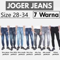 Celana Jogger Jeans Pria/Chino Pants/Celana Jogger Ripped Skinny