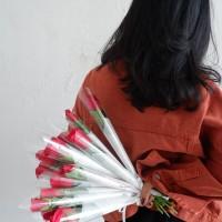 Setangkai Buket Bunga Mawar / Bunga Mawar Satuan (Asli)