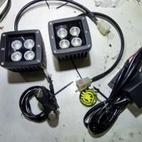 lampu sorot cree LED 40w kuning (warm white) pecah kabut