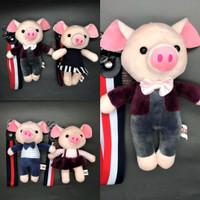 Gantungan Kunci Bludru Boneka Babi Piggy Pig Couple Keychain