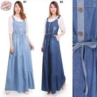Overall Dress Drella Maxi Longdress Jumpsuit Jeans Wanita