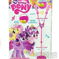 Mainan Anak - Microphone Double My Little Pony Mic Standing Dua Tiang