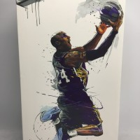 Figure Kobe Bryant 24 NBA LAKERS jersey Purple Basket MVP Enterbay 1/9