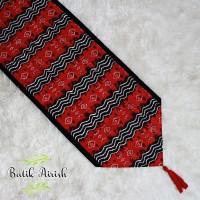 TABLE RUNNER Batik | Tenun Buna Merah | Taplak Meja Tamu 150x40 cm