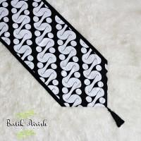 TABLE RUNNER Batik | Parang Ukel Putih | Taplak Meja Tamu 150x40 cm