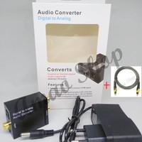 PAKET Digital Analog Audio Converter Plus Kabel Toslink NEW