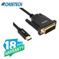 Type C to DVI 24+1 Thunderbolt 3 CHOETECH XCD-0018BK