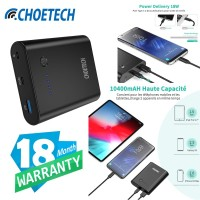 Power Bank QC 3.0 Quick Charger+18W Power Delivery CHOETECH B618T