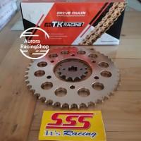 Gear Set SSS MX King 150 & Rantai TK 428 S Gold