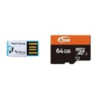 JUAL GAN Team MicroSD 64GB UHS 1 PLUS Card Reader
