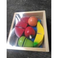 Mainan Buah Potong Kayu Wooden Cutting Food Fruit Best Quality