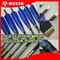 Arrow Pure Carbon MUSEN 7.6 mm Real Feather Spine 350 - Anak Panah