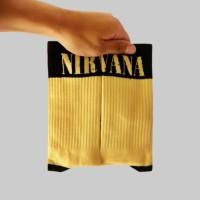 Kaos Kaki kece HYPE Unisex Nirvana Band, FILA SUPREME OFFWHITE STUSSY!