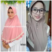 jilbab instan serut renda ori an nikmah