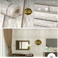 Grosir Murah Walpaper Sticker Dinding,Batu Bata Bertekstur 10 M