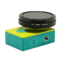 Lensa lens cover UV Filter 52mm dengan Cap untuk Xiaomi Yi Cam