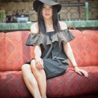 Sexy sabrina dress black baju import bangkok