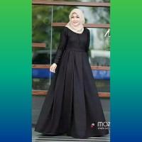 baju gamis muslim wanita abaya polos blouse tunik maxi dress hitam