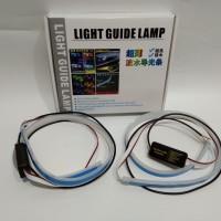 LED slim alis DRL fleksibel 60cm 2 warna running headlamp motor mobil