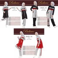 Setelan Baju Olahraga Wanita Muslim Believe BMS 16 / Baju Senam