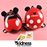 Tas Ransel Telur Karakter Sekolah Anak Motif Mickey Mouse Lucu Import