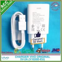 Charger Adaptor Vivo V7 Plus Kabel Data Micro USB Original 100% 5V 2A - Putih