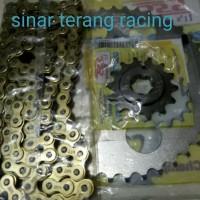 gear set sss 415 motor tiger revo sonic megapro rantai gold