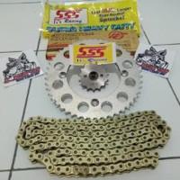 Gear set Gir set SSS 428 Cb150 r Cbr150 Tiger Megapro Verza dll