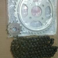 HARGA HEMAT Gear Set Drive Chain Kit Honda Tiger Brand FSCM