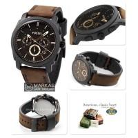 Jam Tangan Pria Fossil FS-4656 Machine Flight Brown Leather ORIGINAL