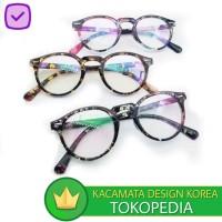 Kacamata (DesignKorea) Pria Wanita Bingkai Optik Retno Vintage Klasik