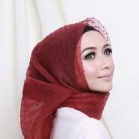 Promo Hijab Jilbab Kerudung Segiempat Organza Rubiah Dot Premium