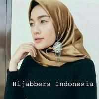 Promo Hijab Jilbab Segiempat Organza Satin/Jilbab Maxmara Polos