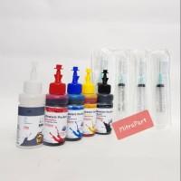 Paket Tinta Refill HP 2135 4 warna Cleaner Solution