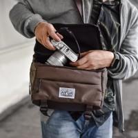Tas Kamera Sling Bag Camera Mirrorless DSLR Drone - ATVA Focus Brown