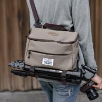 Tas Kamera Sling Bag Camera Mirrorless DSLR Drone - ATVA Focus Khaki