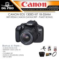 CANON EOS 1300D KIT 18-55MM WIFI RESMI CANON DATASCRIP - PAKET BONUS