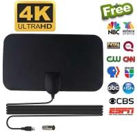 Kebidumei Antena TV Digital DVB-T2 4K High Gain 25dB - Hitam