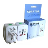 Universal World Travel Wall Plug Adapter Power Converter for EU/UK/US